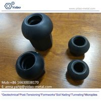 M15-50 carbon steel Spherical Nut and domed achor nut and anchor plate used for hot rolled threaded