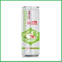 WANA Coconut Water With Lychee Flavor in 320ml Alu Can