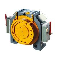 Low Closing Noise , Gearless Traction Machine For Lift
