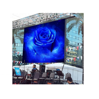Rented P8 outdoor waterproof full color advertising LED display , rented LED SMD high resolution thumbnail image