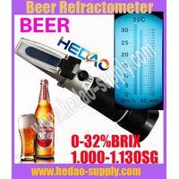 Brix&Beer Refractometer (0-32%Brix,1.000-1.120SG)