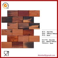 Decorative wall panelancient boat wood flooring mosaic