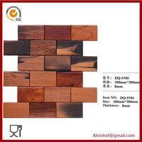Decorative wall panelancient boat wood flooring mosaic