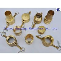 Brass cam and groove coupling