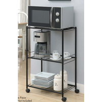 3 Tiers Steel Kitchen Microwave Rack Cart with organizing kitchen essential thumbnail image