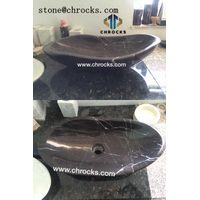 Black Marquina Vessel Sink