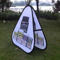 Outdoor advertising triangle pop up banner for golf