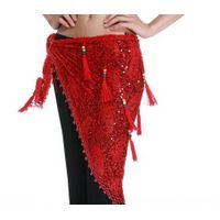 M-BL164 Women Belly Dance Hollow Designed Dress Costume Beaded Hip Scarf with Tassels