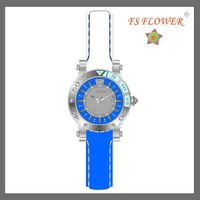FS FLOWER --- SSX002-B Nice Design Two Color Silicone Band Stainlees Steel Chrono Watches For Women