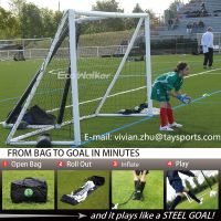 inflatable soccer football goal for kids portable and safe