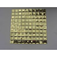 beveled mirror  glass mosaic tiles decorate the wall thumbnail image