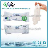 Non-woven disposable magic coin tissue 2pc /candy bag
