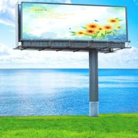 Highway durable steel structure advertising billboard with solar energy thumbnail image