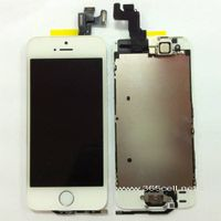 100% OEM new iPhone 5s LCD assembly with home key and sensor flex + front camera