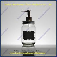 16oz Glass Mason Jar with Soap Dispenser Lid