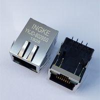 Ingke YKJD-8029SS Direct Substitute J1B1211CCD 1 Port 100BASE-T Through Hole Magnetic RJ45 Modular C