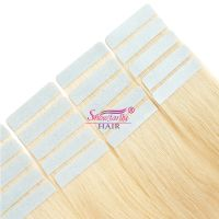 Blonde Color 30 Inch Remy Tape Hair Extensions ,Glamorous Russian Virgin Tape In Hair Extensions In