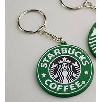 mini coaster keychain with soft pvc Material