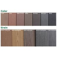 All Kinds of WPC Solid or Hollow Decking, WPC Flooring Costomised Color and Grain
