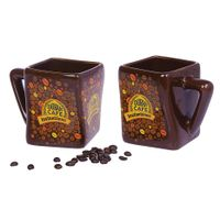 hot sale special shape ceramic mug creative square shape designed cup