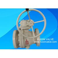 API 6D 2-pc Trunnion Mounted Casting Steel RF Ball Valve Manual China Manufacturer thumbnail image