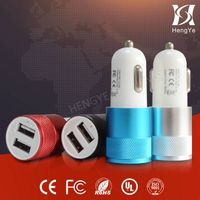 Dual USB Universal Car Charger for iPhone Car Socket Splitter Charger For Smart Phone GPS Power Adap