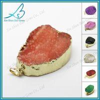 Random shape wholesale drusy jewelry druzy agate pendant thumbnail image