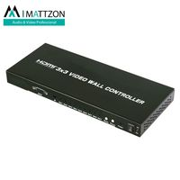 Mattzon 3x3 Video Wall Controller processor with Mixed input (HDMI / VGA / Composite / USB)