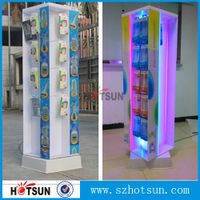 acrylic cell phone accessory display with LED