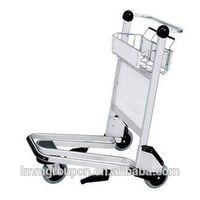 stainless steel luggage trolley airport thumbnail image