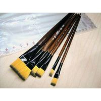 New 6 pieces Brown Tip Nylon artist brushes For Art Artist Supplies