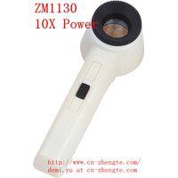 Illuminated Handheld Magnifier 10X