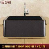 Small absolute black granite kitchen sink
