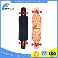 4 wheel skateboard 42.5 inch skate board 9 layer Chinese Maple long board deck skateboard