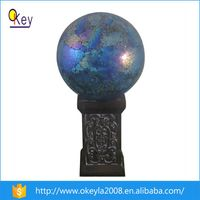 Out Garden LED Mosaic Glass Solar Globe Light