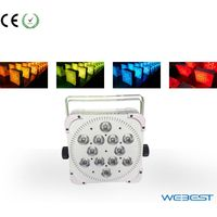 Wireless DMX 12 lens 5W RGBWA 5in1 LED Slim Par