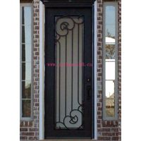 Wrought iron single entry/interior door designs