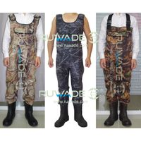 Neoprene men camo chest fly fishing wader