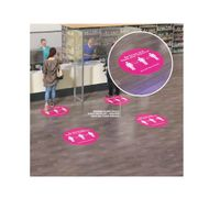 "17.5 inch floor decal ""Keep your distance"""