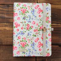 fabric hardcover printing CMYK on the cover cute notebooks