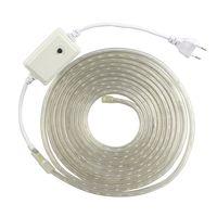 RGB SMD 5050 AC220V LED Strip Flexible Light IP67 Waterproof 60leds/m Led Tape With Power Plug thumbnail image