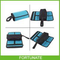 durable polyester folding tool bag zipper kit first-aid bag