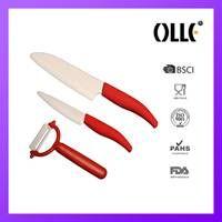 red ceramic knife set thumbnail image