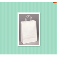 """10"""" x 7"""" x 12"""" Tulsack paper bags white kraft paper bags 40% Recycled Shopping Bag"""