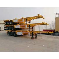 3 axles 20ft 40ft container platform flatbed semi trailer thumbnail image