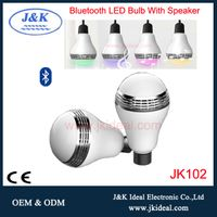 Fashion 5w smart bluetooth led speaker bulb with mobile phone app