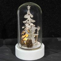 glass dome light led sonwman children chirstmas gift