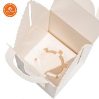 Hot sale Kraft Paper cake box food grade Gift Boxes with Window Inserts Handle for cupcake Cake Boxe thumbnail image