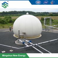 Double Membrane Gas Storage Tank for Heat-and-Power Cogeneration
