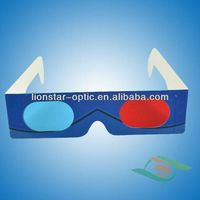 Cheap red cyan anaglyph 3d glasses paper 3d movie glasses thumbnail image